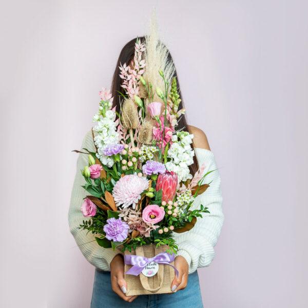 Burlap Bag from Kilsyth Florist