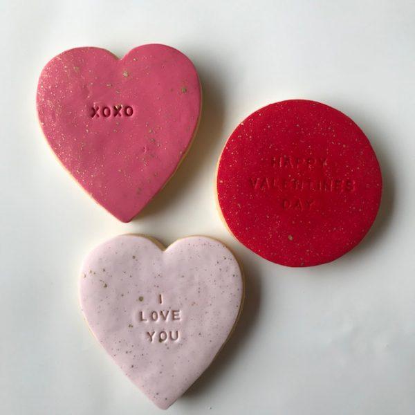 Valentines Day Cookies at florist in Kilsyth