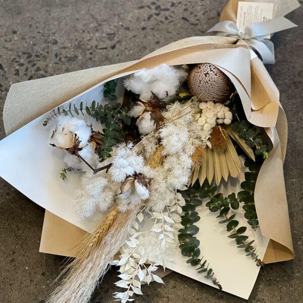 Dried Flowers in a Bouquet Neutral colour Medium